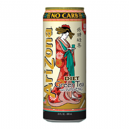 Arizona Diet Green Tea with Ginseng 23oz 680ml (US)